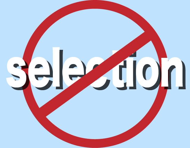 non-selection